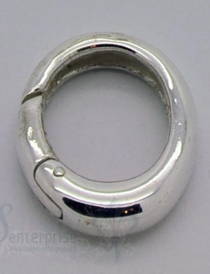 Klickschloss oval kantig halbgefüllt 15x19,5 mm