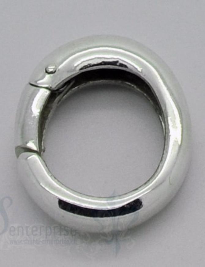 Klickschloss oval kantig halbgefüllt 15x19 mm