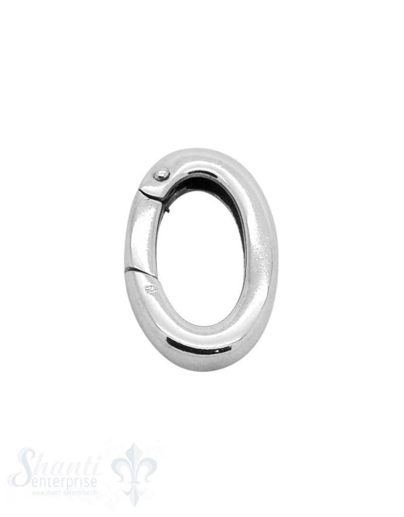 Klickschloss oval kantig halbgefüllt 16x24 mm