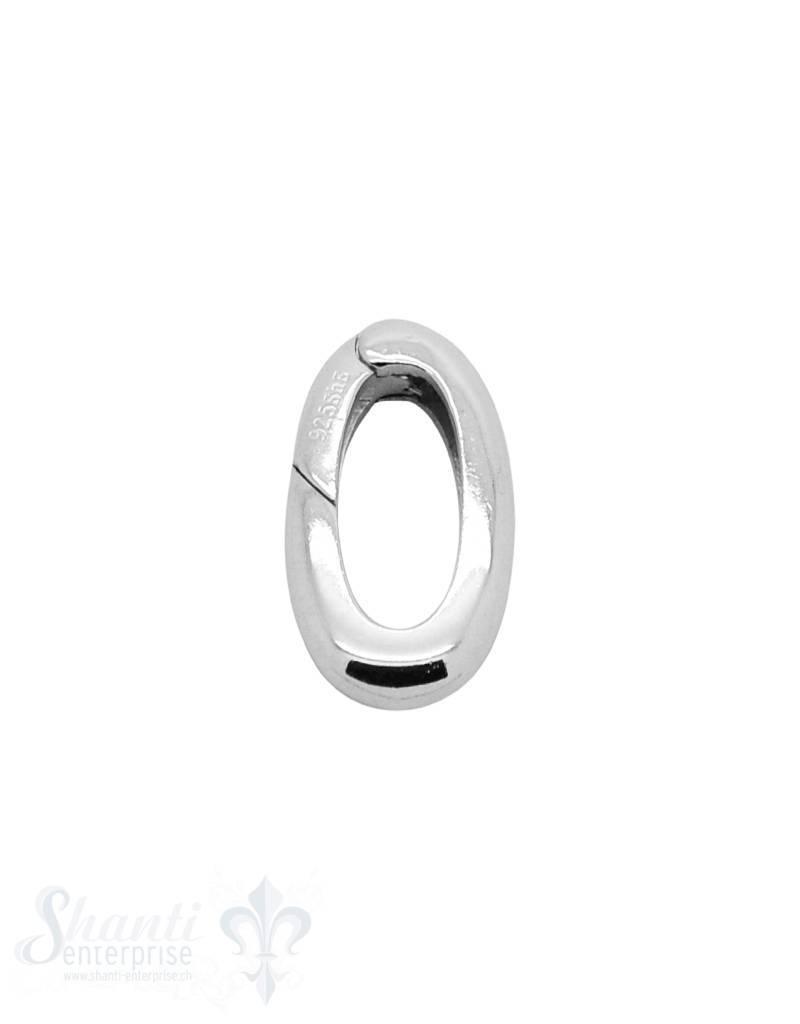 Klickschloss oval kantig halbgefüllt 14x22 mm