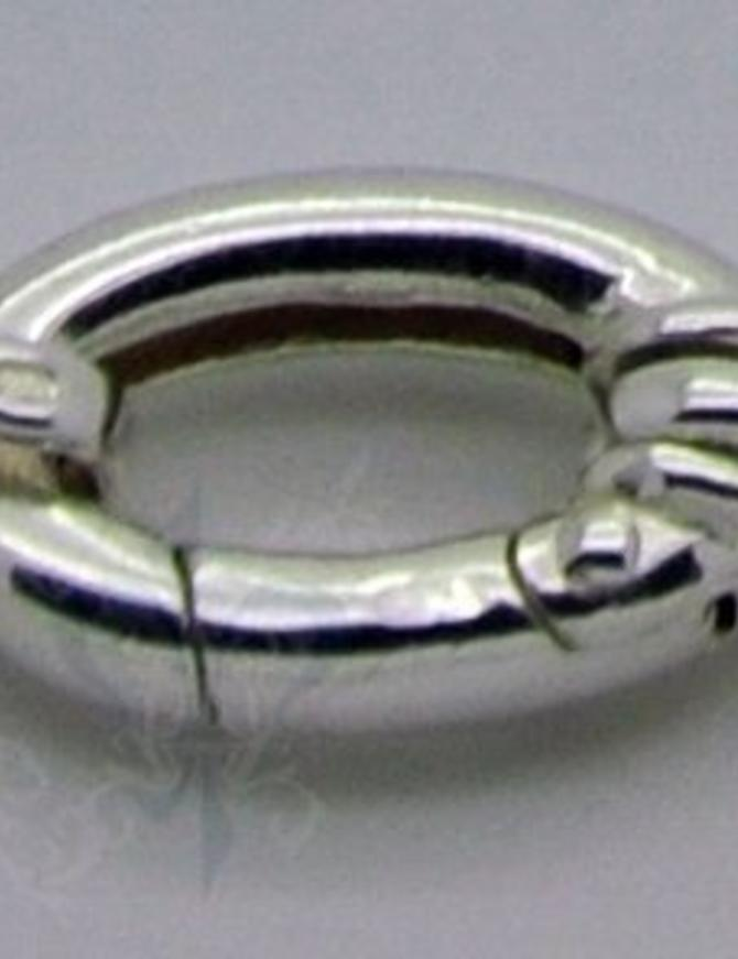 Klickschloss oval halbgefüllt mit 2 Oesen 10x25,5 mm