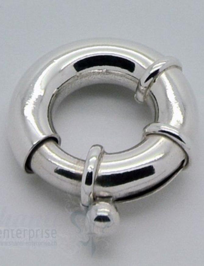 Federringschloss mit 2 Stopper D: 20,6 mm
