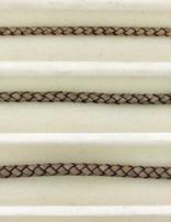 biolog.gefärbetes Leder geflochten 4 mm: taupe-ant