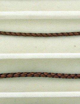 biolog.gefärbetes Leder geflochten 4 mm: copper