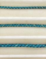 biolog.gefärbetes Leder geflochten 4 mm: ocean-gre