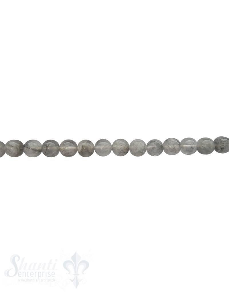 Grauquarzkette 40-42 cm lang poliert