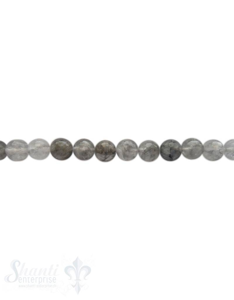 Grauquarzkette 40-42 cm lang facettiert