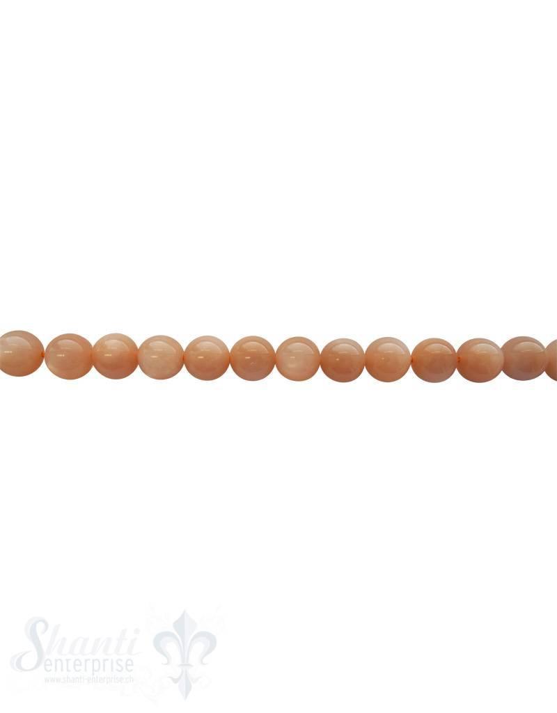 Mondsteinkette apricot AAA Qualität 40-42 cm lang poliert