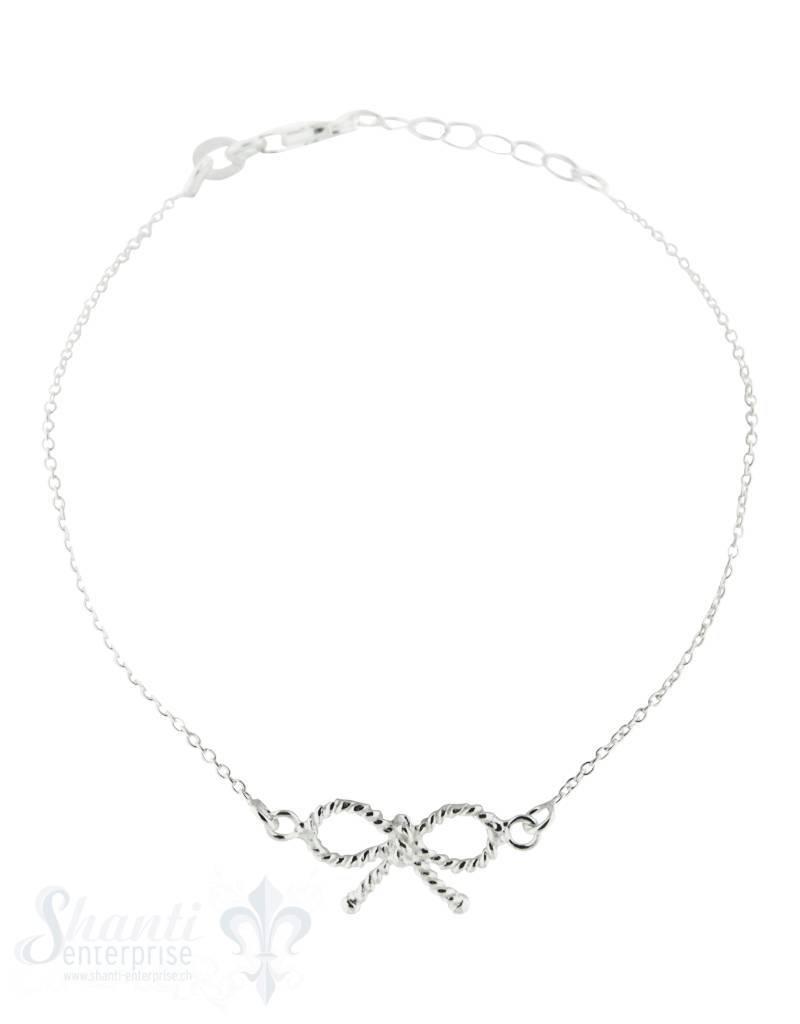 Silberarmkette: mit Masche fein Länge: 16,5 / 18 cm verstellbar