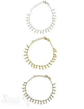 Silberarmkette: Kugeli mit Kugelianhängerli Länge: 17 / 19 cm verstellbar
