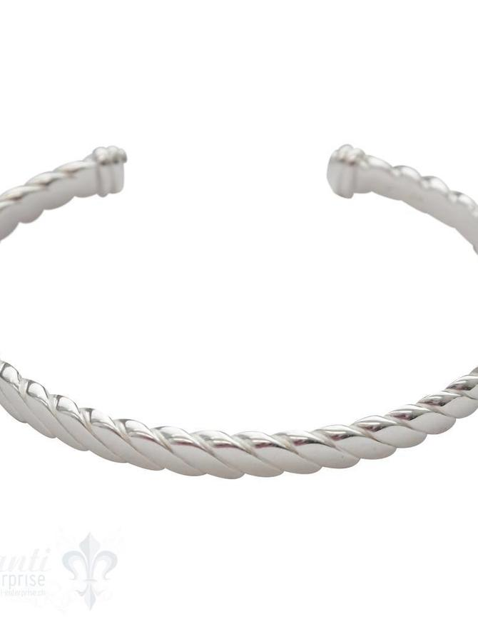Armspange Glieder gedreht flach 5mm breit 18,5 cm