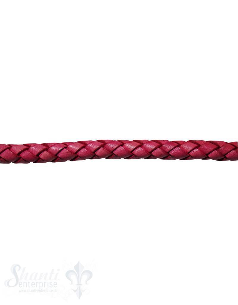 biolog.gefärbtes Leder geflochten pink