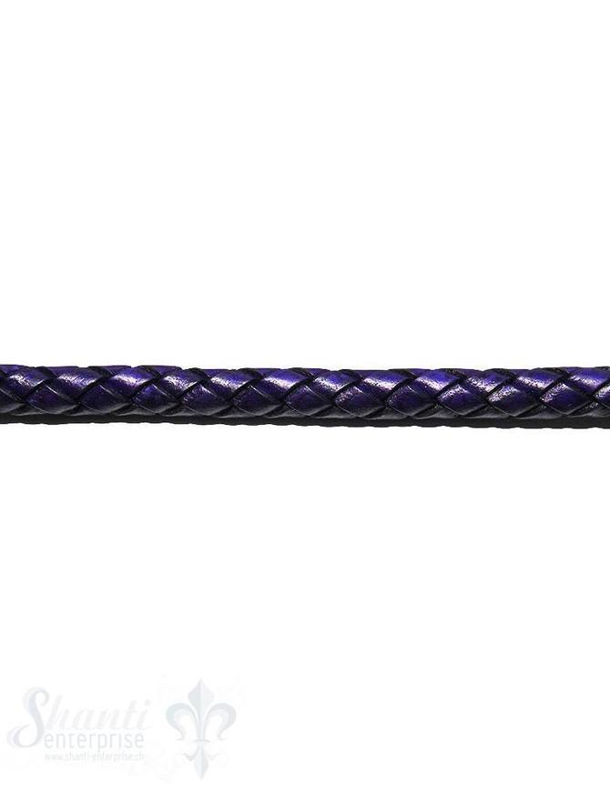 biolog.gefärbtes Leder geflochten violett