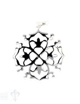Si-Anhänger: Amulett rund durchbrochen, 30 mm