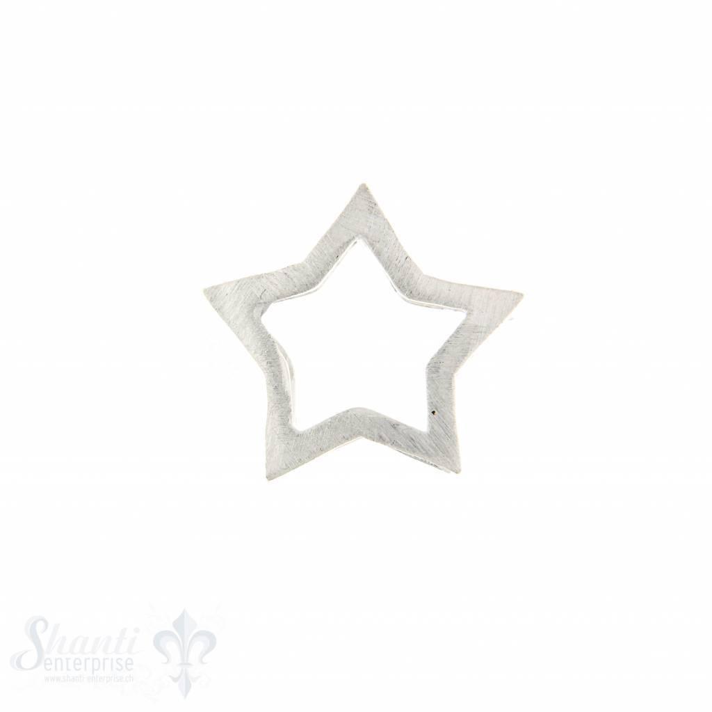 Si-Anhänger: Stern matt zum durchziehen matt:20mm Dicke:3mm