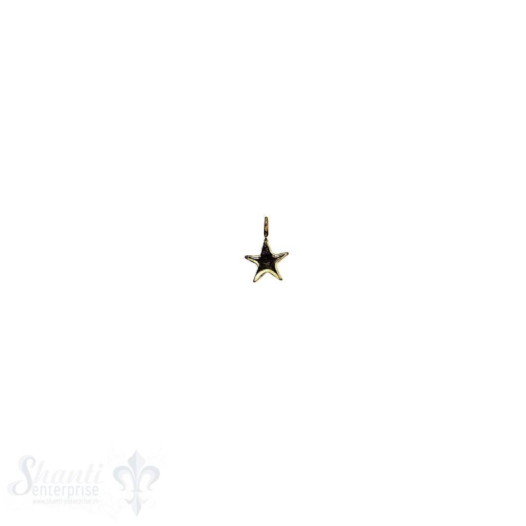 Si-Anhänger: Stern poliert D: 4mm Dicke:0.7mm