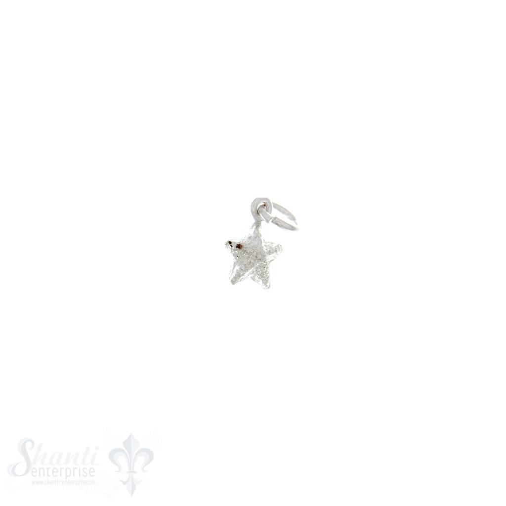 Si-Anhänger: Stern diamantisiert D: 6.5 mm Dicke: 4 mm 3 Stk. / Pack