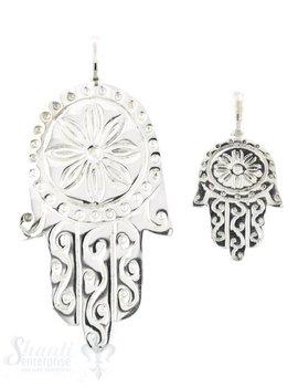 Silberanhänger Fatimahand verziert mit Sonne