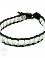 Leather Wrap Bracelet: Bergkristall, 17 cm 1 x Handgelenk