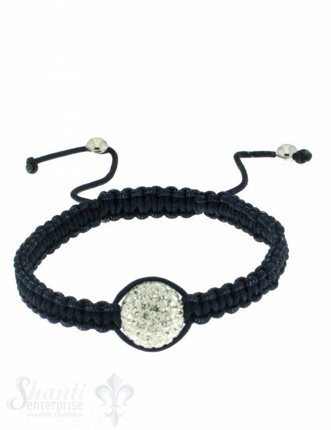 Moon Bracelet: white cristal, 17 cm 1 x Handgelenk