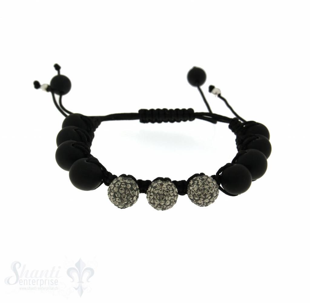 Moon Bracelet: Lava/ Swarovski, 17 cm 1 x Handgelenk