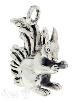 Silbertier: Eichhörnchen poliert 32x22mm Dicke: 10mm