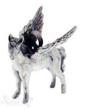 Silbertier: Einhorn mit Flügel 30x34 mm Dicke:9mm