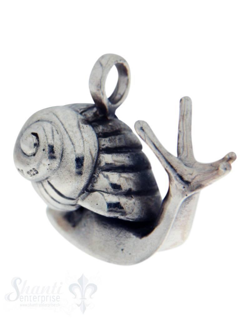 Silbertier: Schnecke poliert 23x27 mm Dicke:14mm