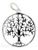 Anhänger Silber Baum des Lebens rund D: 23 mm