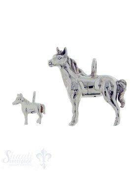 Silbertier:Pferd poliert Dicke:5mm
