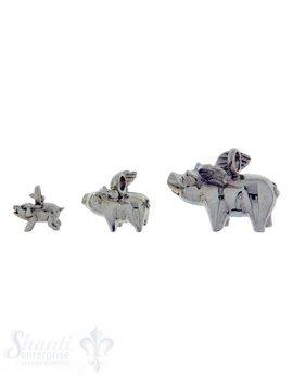 Silbertier: Schweinchen mit Flügel Dicke:9mm