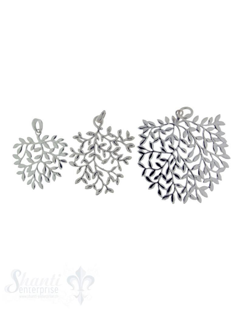 Silber-Anhänger: Blatt gefiedert