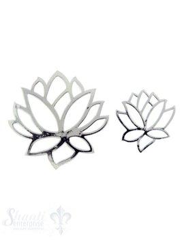 Silber-Anhänger: Lotusblüte durchbrochen