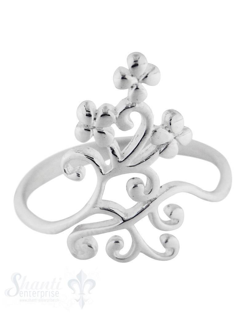 Silberring Blumenranke filigran