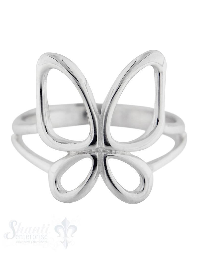 Silberring mit Schmetterling fein