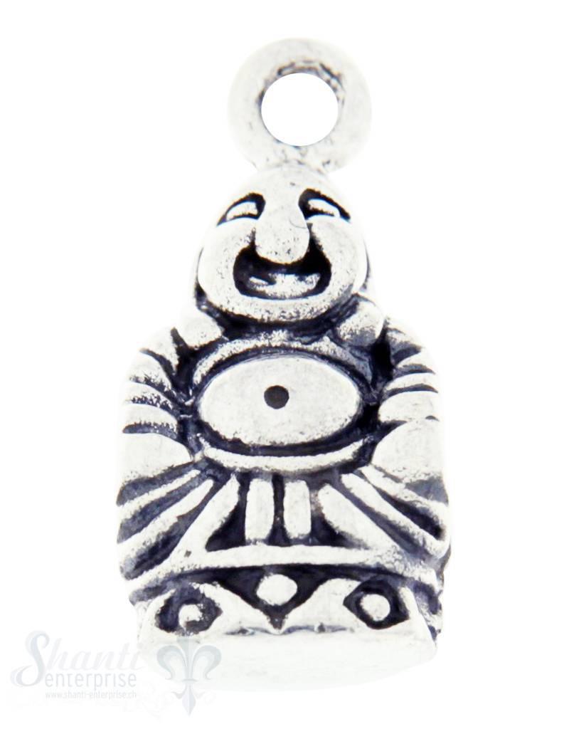 Silberanhänger: Buddha geschwärzt 18x9 mm Dicke: 7mm