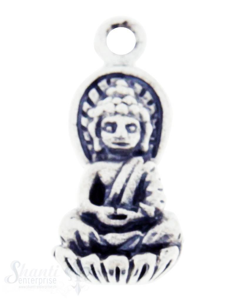 Silberanhänger: Buddha geschwärzt 17x8 mm Dicke: 2.5mm