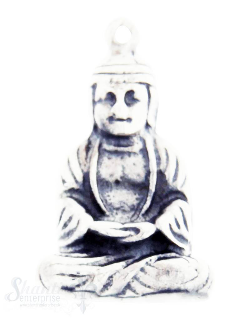 Silberanhänger: Buddha geschwärzt 22x14 mm Dicke: 3mm