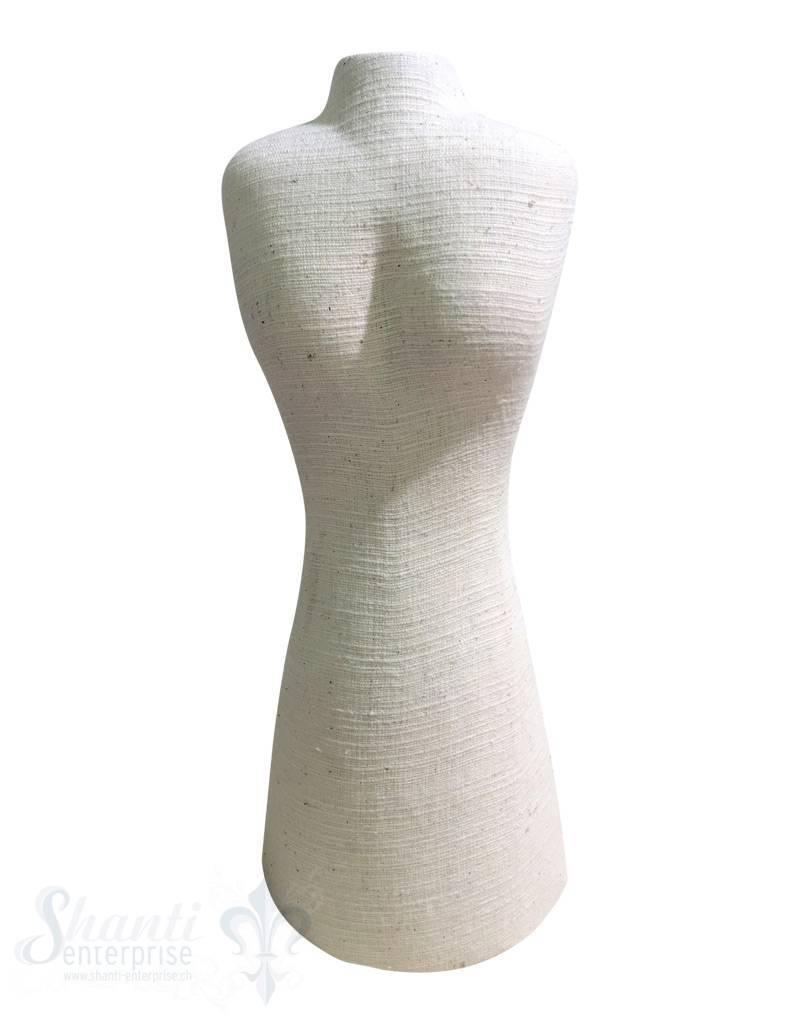 Display Leinen: Büste flach schwer 40x18 cm mit Klettverschluss