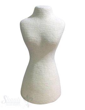 Display Leinen: Büste flach schwer 30x15 cm cm mit Klettverschluss hinten