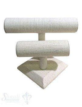 Display Leinen: Armband-Ständer doppelt 60 mm 28/20x20 cm mm mit Fuss