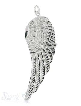Silberflügel: mit Struktur poliert 80x28 mm Dicke: 2mm mit Oese
