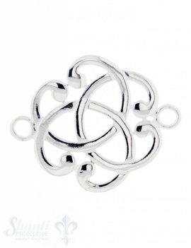 Silberteil mit Doppelösen: ewiger Knoten 33x26mm Dicke: 1.18 mm