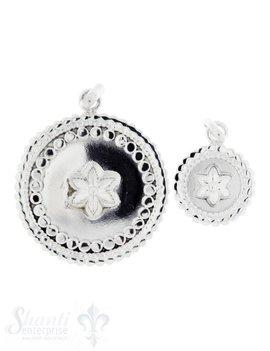 Silberanhängerr: Amulett mit Blume