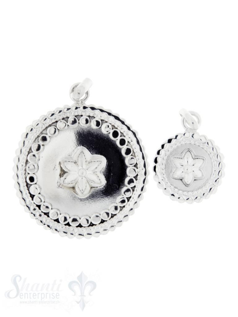 Silberanhänger Amulett mit Blume