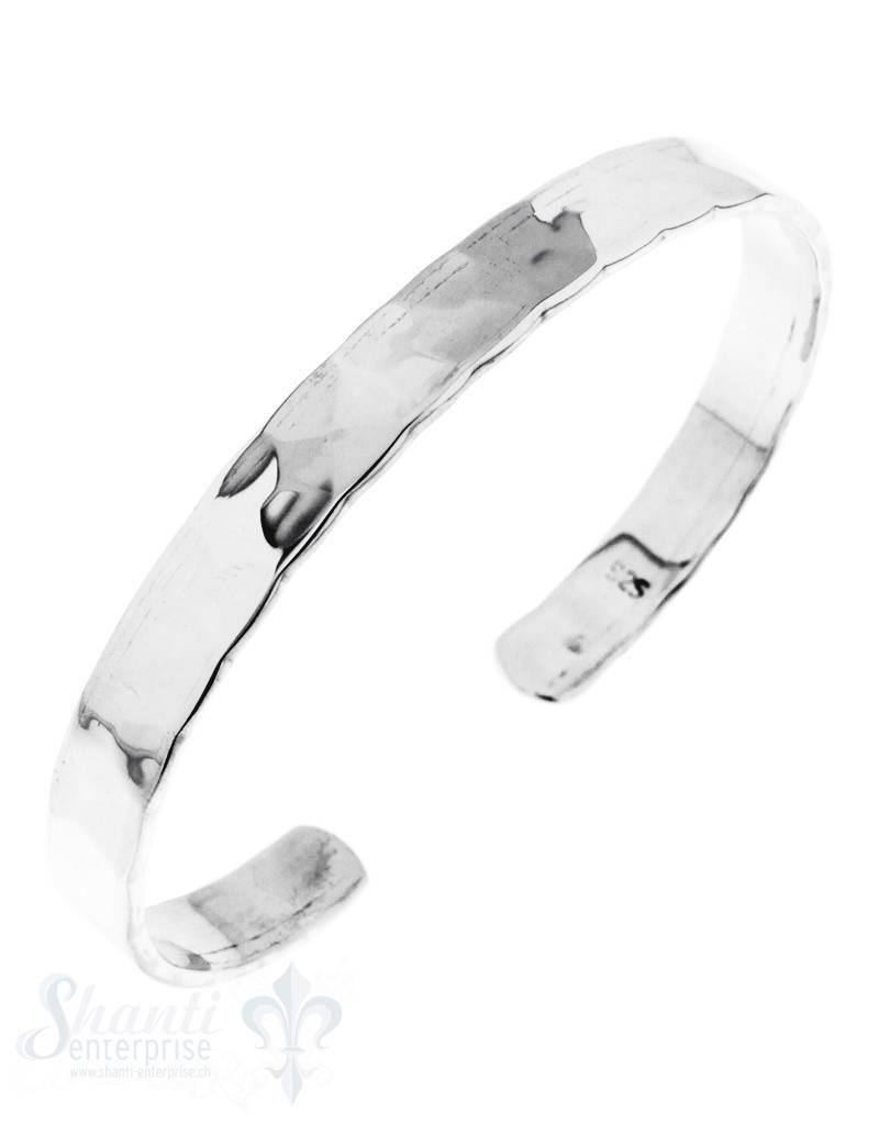 Silberspange: gehämmert 8 mm breit