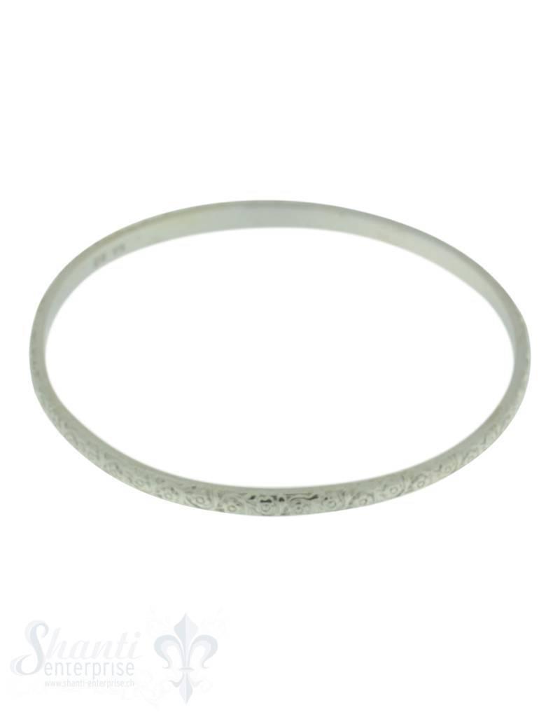 Silberreif: Blumenranken fein, B: 3.8 mm, D: 62 mm