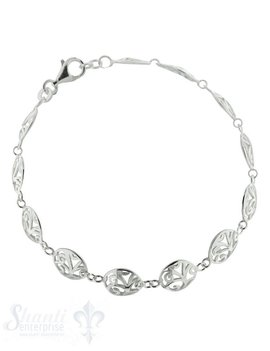 Silberarmkette: mit 12 Fantasieamulette D: 9,7 mm Länge: 18 / 19 cm verstellbar