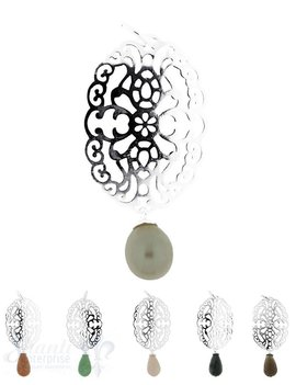 Si-Anhänger:Amulett oval, keltisch Länge: 5,5 cm