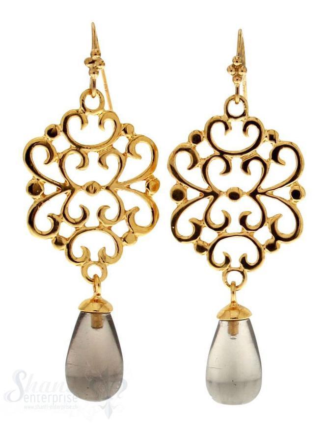 Ohrhänger mit Bügel: Si-Amulett  gelb vergoldet